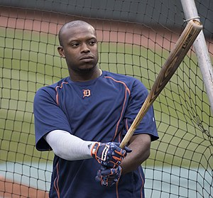 Justin Upton - Upton with the Detroit Tigers in 2016