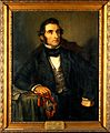 Justus von Liebig (1803-1873), chemist. Oil painting by Carl Wellcome V0017949.jpg