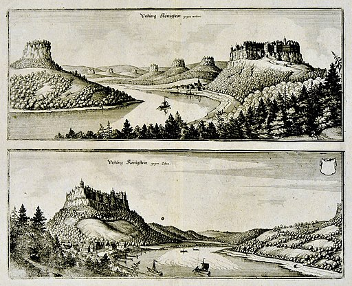 Königstein Kupferstich Foto H.-P.Haack