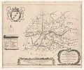 Kaart van de grietenij Franekeradeel De grietenie van Franeker deel (titel op object), RP-P-AO-2-21B-2.jpg