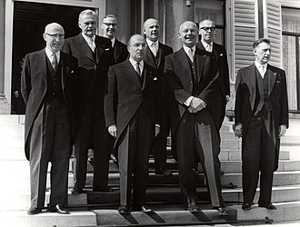Jo Cals - Jo Cals at the inauguration of his cabinet in 1965.
