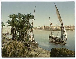Kairo , bords du Nil et Dahabieh..jpg