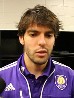 Kaká Postgame In Houston, March 2015 (cropped)