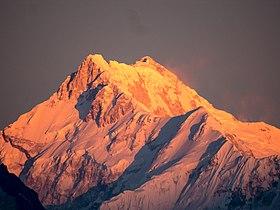 Le Kangchenjunga au matin vu depuis Gangtok