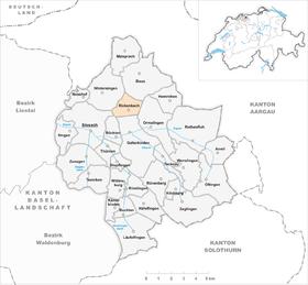 Karte von rickenbach