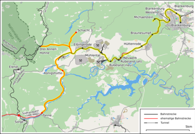 Route of the Rübelandbahn