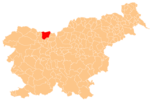 The location of the Municipality of Tržič