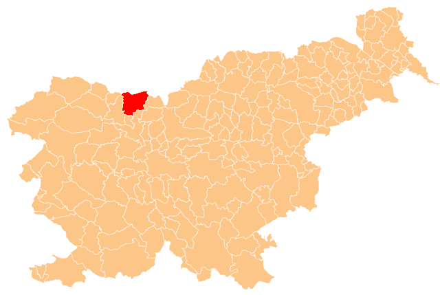 Location of the Municipality of Tržič in Slovenia