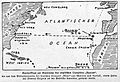 Kartenskizze mit Fahrtroute der Prise APPAM von SMS MÖVE im Januar-Februar 1916 von Madeira nach Norfolk in Virginia Illustrirte Zeitung 1916.jpg