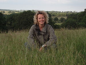 Kate Humble on Springwatch farm, England.