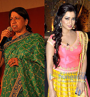 Dola Re Dola - The duo of Kavita Krishnamurthy(l) and Shreya Ghoshal(r) won several awards and nominations for the song.