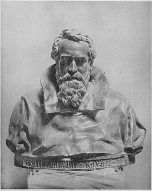Carl Gangolf Kayser - Portrait bust of Kayser by Victor Tilgner