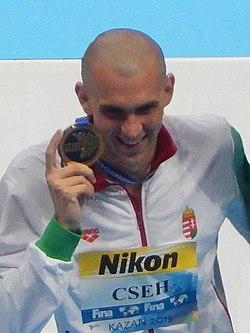 Kazan 2015 - Medallists 200m butterfly M Cropped 2.jpg