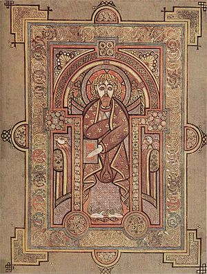 Dál Riata - Saint Matthew, folio 28v in the Book of Kells