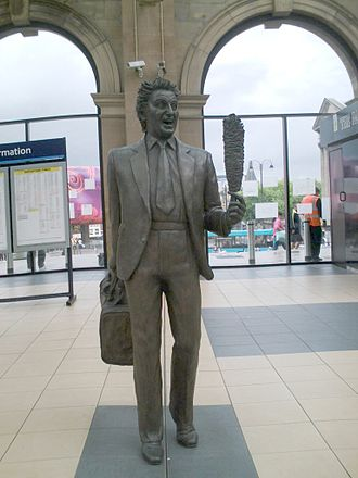 Ken Dodd - The statue of Sir Ken at Liverpool Lime Street railway station