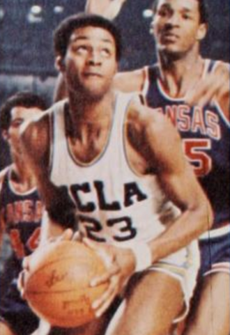 1971 NCAA University Division Basketball Tournament - Kenny Booker of UCLA against Kansas in the Final Four.