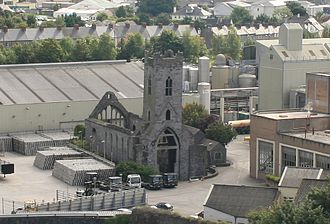 St. Francis Abbey - Image: Kilkenny Friary as seen from the Round Tower 2007 08 28