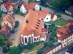 Luftbild-Aufnahme vom Kloster Maria Bickesheim