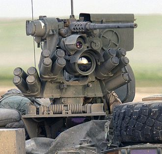 Remote weapon station - Protector M151 with an M2 heavy machine gun on a M1126 Stryker