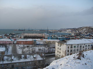 Town in Sakhalin Oblast, Russia