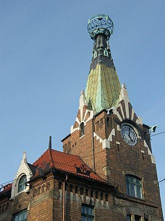 Franciszek Mączyński - Image: Kraków dom pod globusem, wieża zegarowa AL01