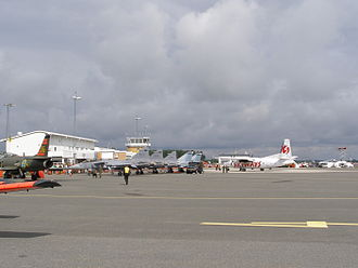 Kristianstad Airport - Image: Kristianstad airport apron