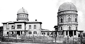 Kuffner Observatory - The Kuffner observatory in 1891, immediately after its extension