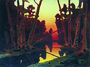 Kuindzhi Sunset in a forest unk.jpg