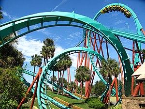 Kumba (roller coaster) - Image: Kumbas vertical loop 3