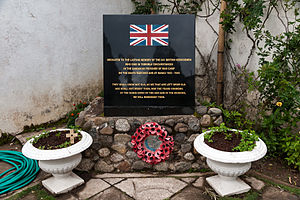 Kundasang War Memorial - Plaque in English Rose Garden.
