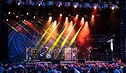 Kvelertak performing in 2019