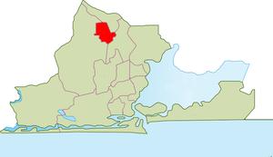 Agege - Image: LGA Mapa de Agege, Lagos