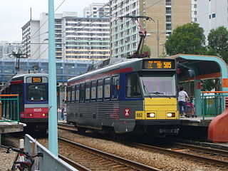 light rail transit system in Hong Kong
