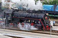LV-0233 steam locomotive at the station Taganrog-II IMG 9858 2175.jpg