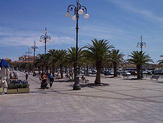 La Maddalena - A square in La Maddalena.