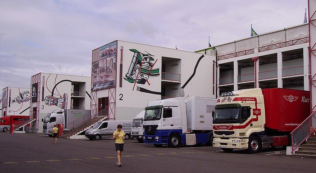 Ladies, paddock and trucks, circuit de Nevers Magny-Cours