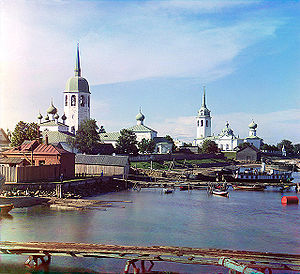 Novaya Ladoga - Nikolo-Medvedsky Monastery in Novaya Ladoga (1911 photo)