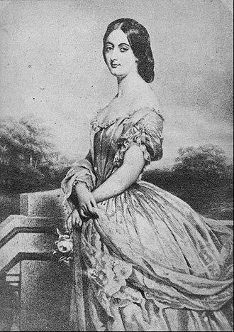 Eliza Grey - Lady Grey portrait by William Gush (c. 1854)