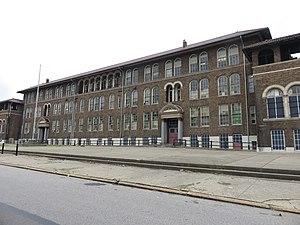 West End, Cincinnati - Former Lafayette Bloom School in 2017