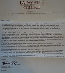 College Acceptance / Rejection Chances?