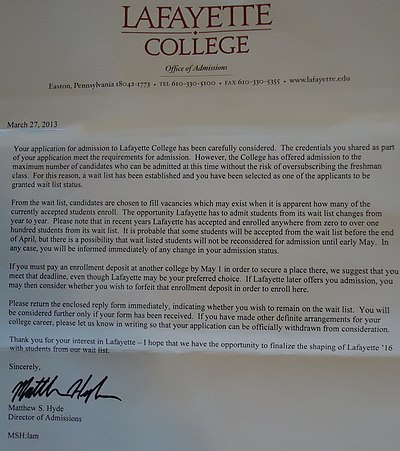 business major college write to college