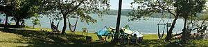 Lake Arenal - Lake Arenal windsurf and kite surf beach at the Tico Wind peninsula