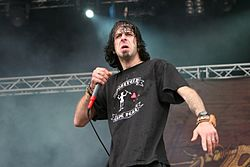 Sänger Randy Blythe auf dem With Full Force-Festival 2007
