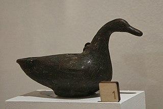 Lampe à huile en forme de canard (25675)