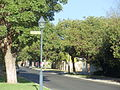 Lamppost and street sign of Evelyn Road on the corner of Princess Road and Evelyn Road in Claremont, Western Australia.JPG