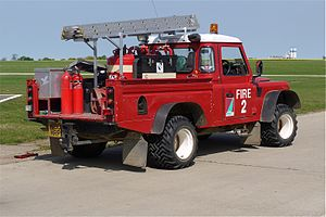 Land Rover Fire Vehicle at Sywell Airport Northants - Flickr - mick - Lumix.jpg