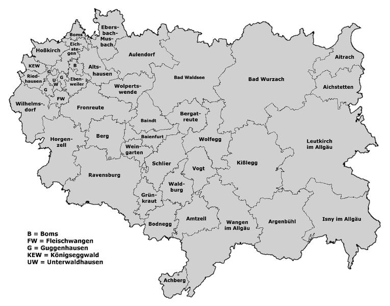 File:Landkreis Ravensburg Karte mit Ortsnamen.png