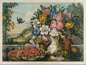 Frances Flora Bond Palmer - Image: Landscape, Fruit and Flowers