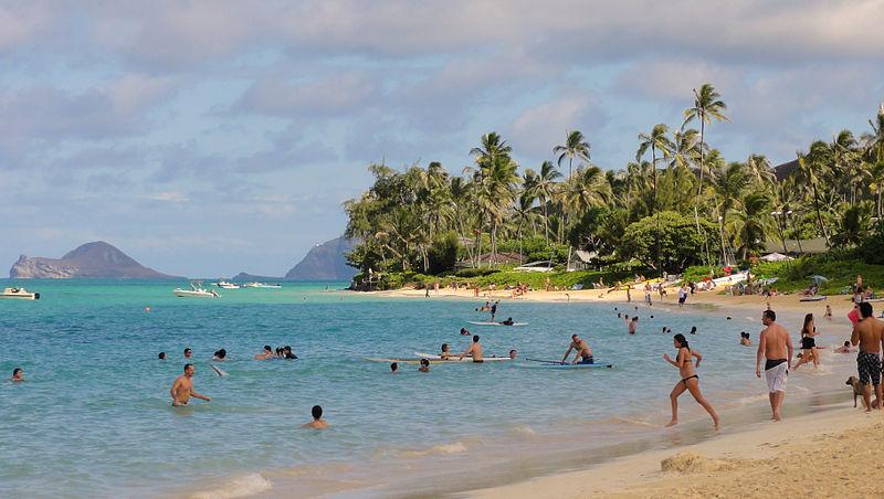 File:Lanikai beach culture.JPG