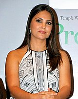 A picture of Lara Dutta looking towards the camera
